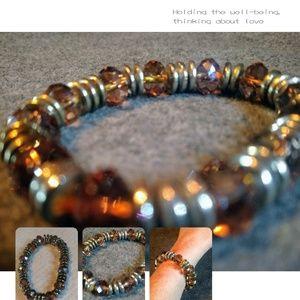 Silpada Smokey Quartz and Sterling Silver Bracelet